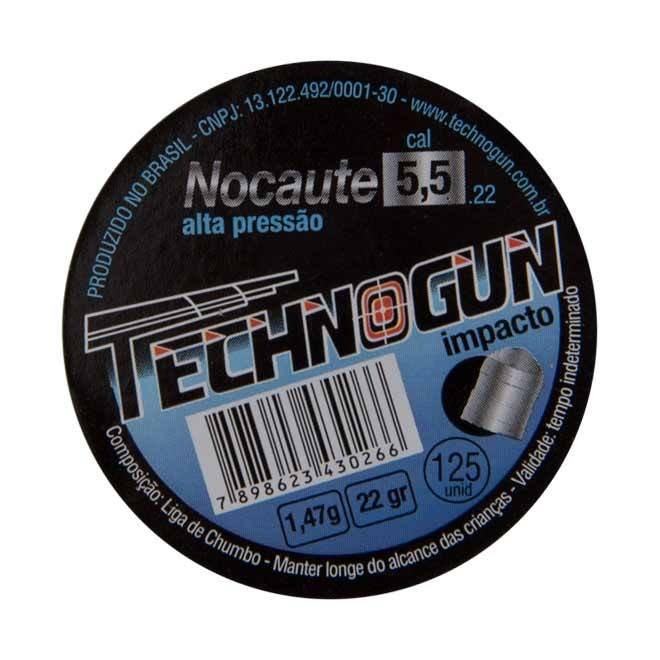 Chumbinho Technogun Nocaute 5,5mm 1,47g