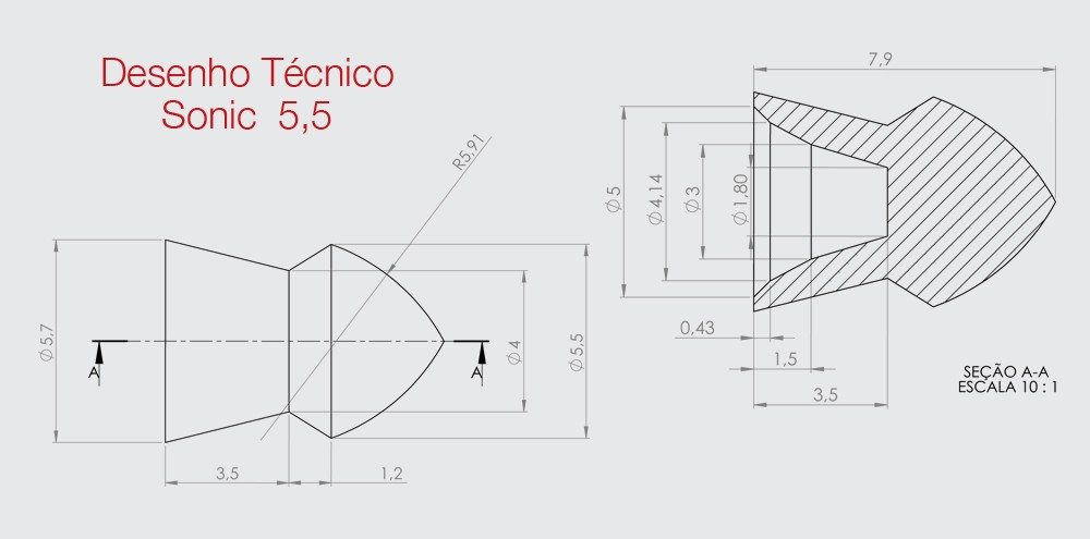 Chumbinho Technogun Sonic 5,5mm
