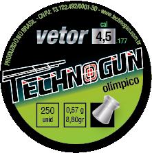 Chumbinho Technogun Vetor Olímpico 4,5mm