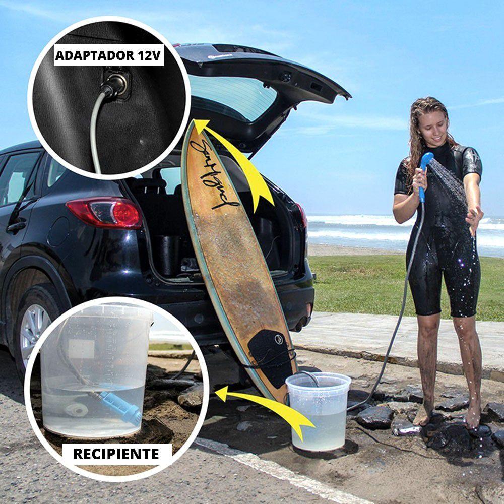 Chuveiro Portátil para Camping e Praia NTK 12v