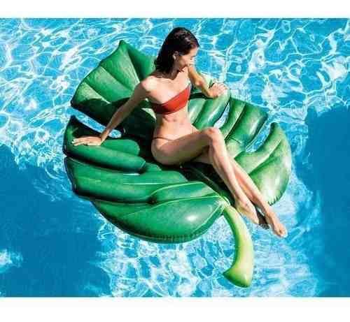 Colchão inflável para piscina Boia divertida Gigante Folha Palmeira Intex 58782