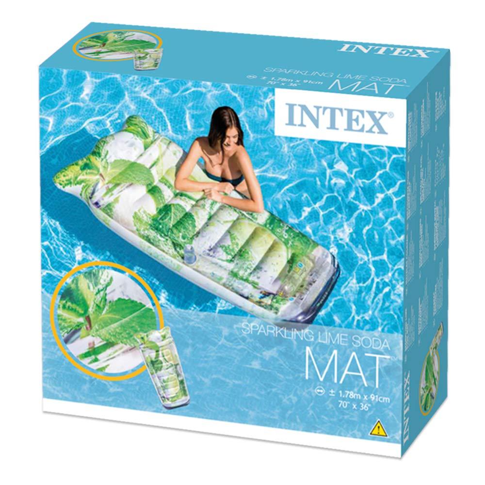 Colchão inflável para piscina Intex Limonada Caipirinha1,78m x 91cm