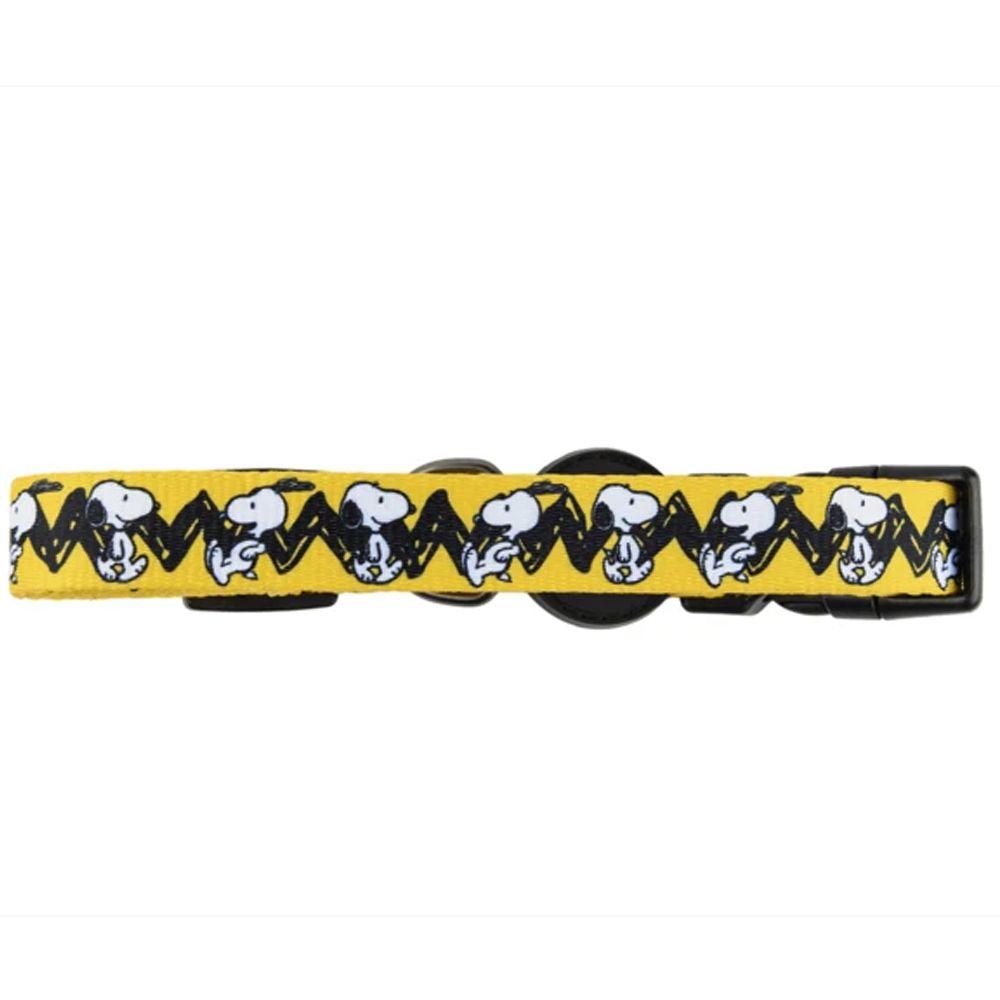 Coleira para cachorro Snoopy Amarela Charlie Brown tamanho G (Ajustável 40 - 65cm) Zooz Pets