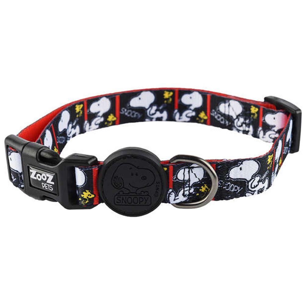 Coleira para cachorro Snoopy Quadrinhos preto e branco Film Black tamanho G (Ajustável 40 - 65cm) Zooz Pets