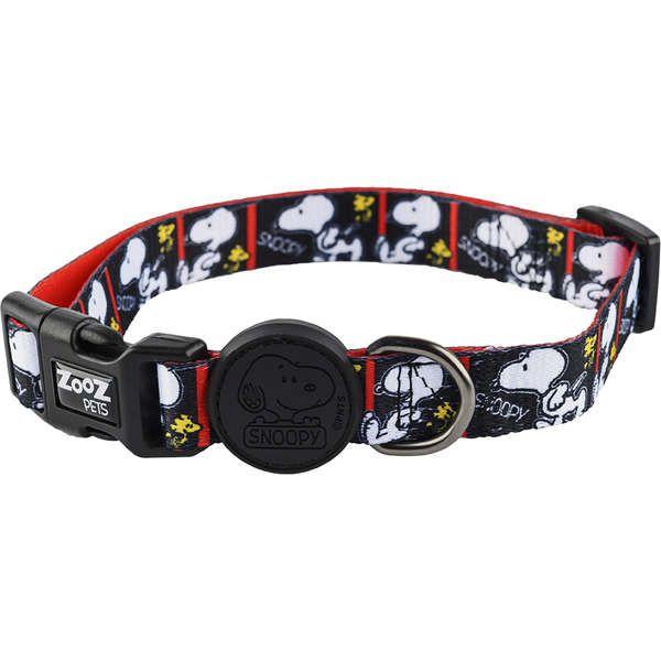 Coleira para cachorro Snoopy Quadrinhos preto e branco Film Black tamanho M (Ajustável 30 - 50cm) Zooz Pets