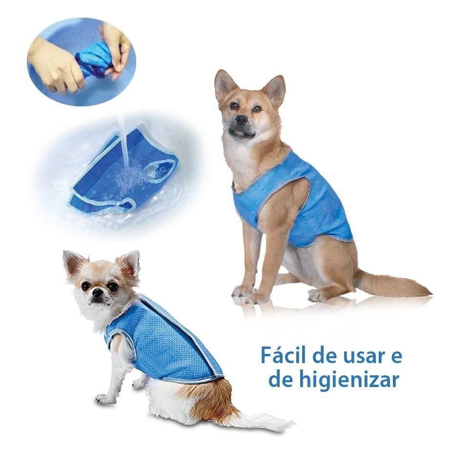 Roupinha de cães Colete Gelado - Refrescante para cachorro tamanho M  27cm Chalesco