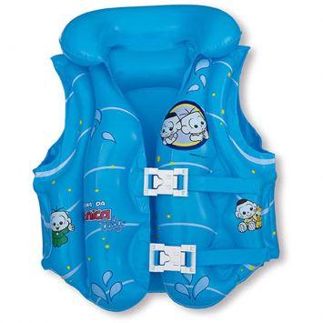 Boia infantil Colete Inflável Turma da Mônica Baby Azul
