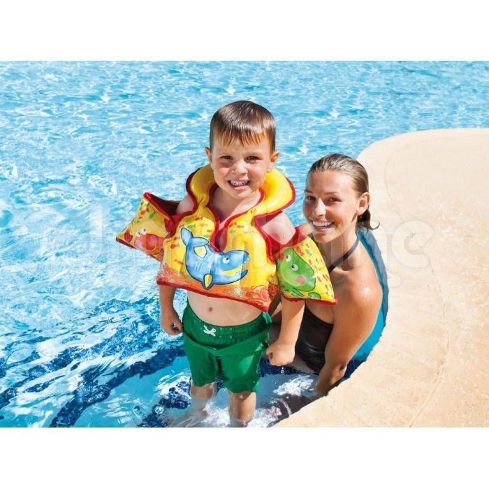 Colete para criança inflável Piscina Aqua Vest Intex