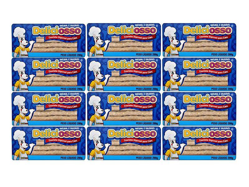 Combo 12 unidades Caixas osso para cachorro Deliciosso palito natural 200g - Cada caixa: 20 palitinhos