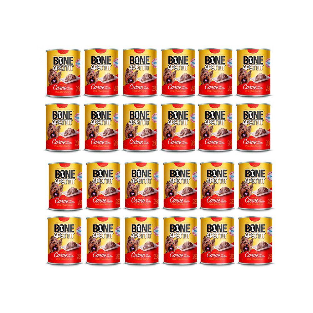 Combo 24 Latas Alimento Úmido para Cães Patê Sabor Carne 280g Bone Apettit