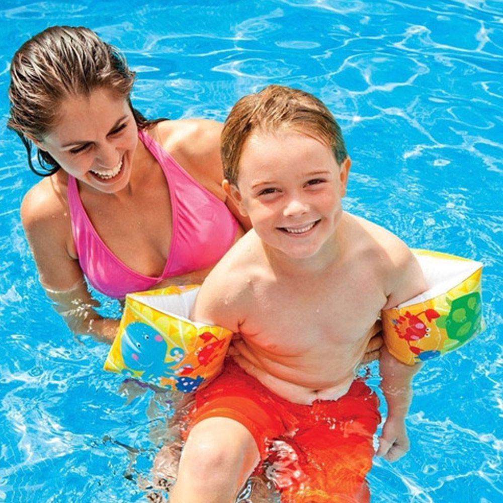 Combo 2 Pares de Boia de Braço inflável para crianças 3 a 6 anos Deluxe até 25kg 23x15cm Intex