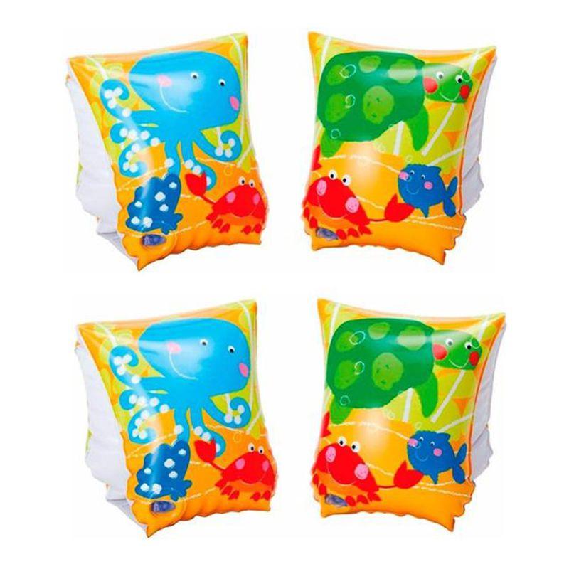 Combo 2 Pares de Boia de Braço inflável para crianças 3 a 6 anos Peixinhos até 25kg 23x15cm Intex