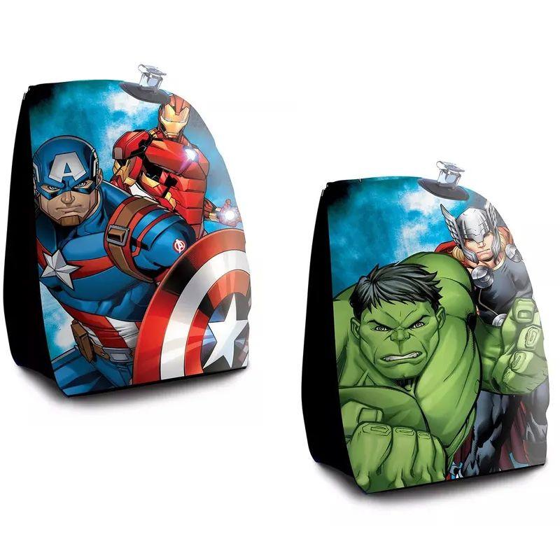 Combo 2 pares de Boia de Braço inflável para crianças Avengers Vingadores Hulk Thor Capitão América Homem de Ferro