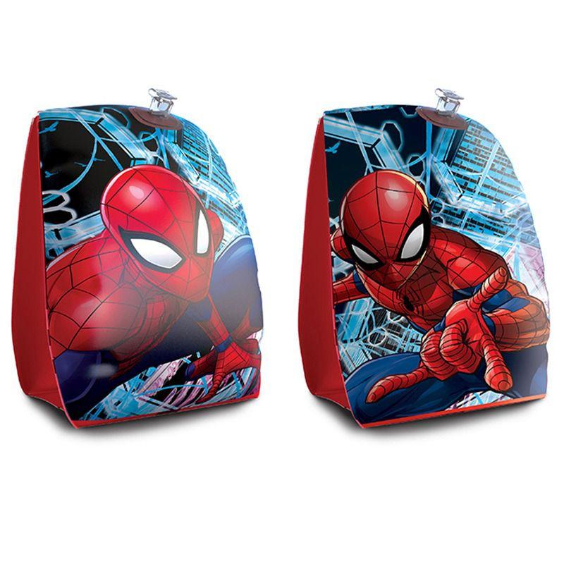 Combo 2 pares de Boia de Braço inflável para crianças Marvel: 1 Homem Aranha Spider Man + 1 Avengers Vingadores