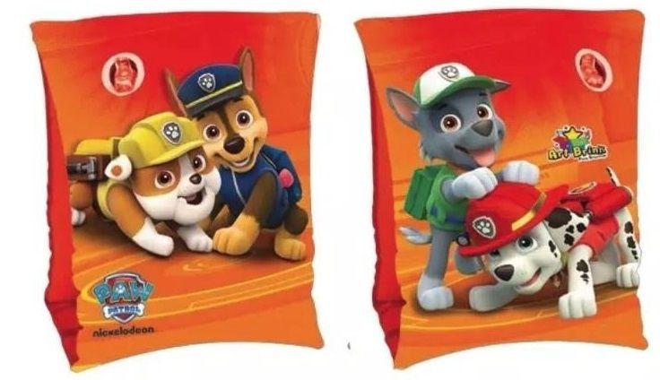 Combo 2 pares de Boia de Braço inflável para crianças Minnie e Patrulha Canina Bestway