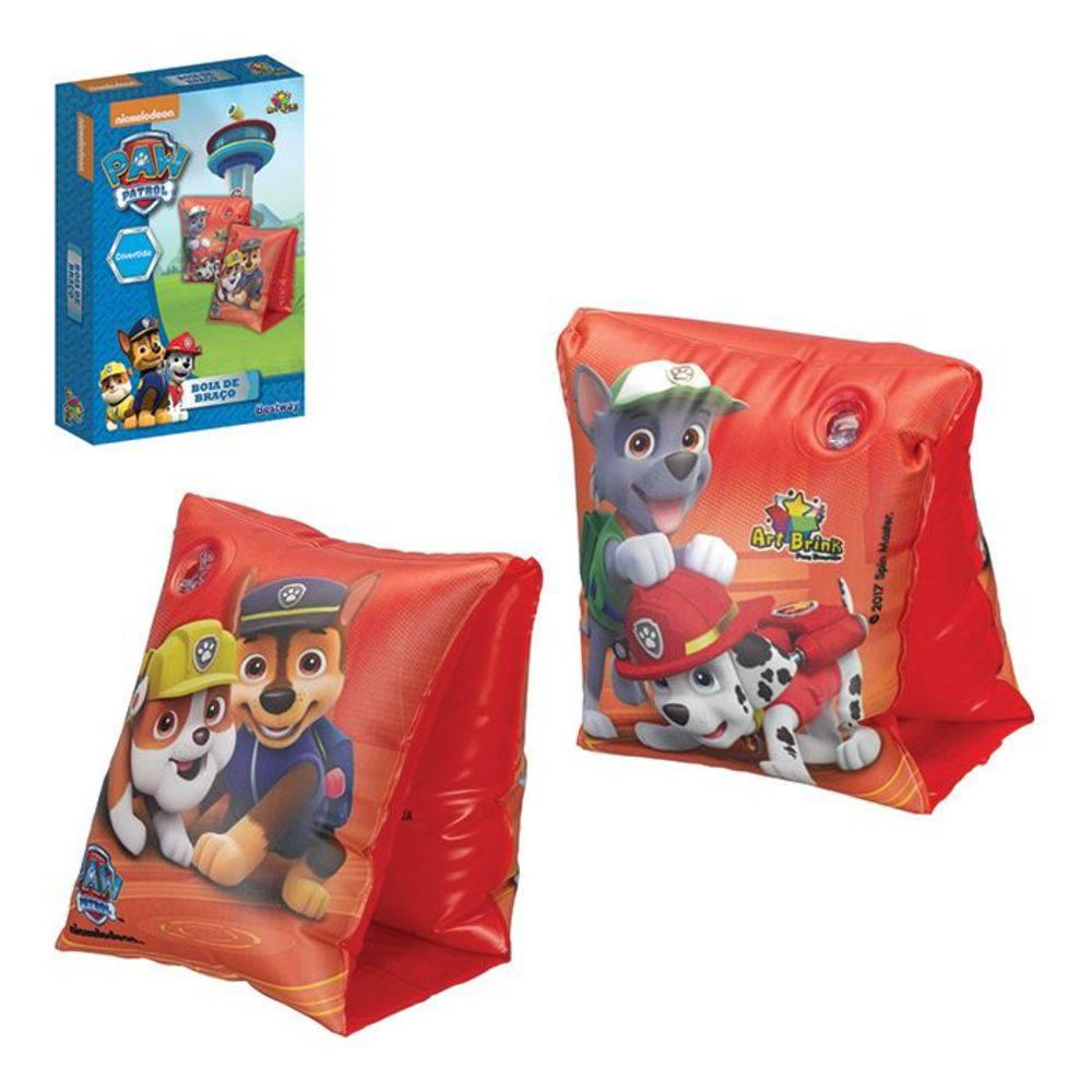 Combo 2 pares de Boia de Braço inflável para crianças Patrulha Canina Bestway