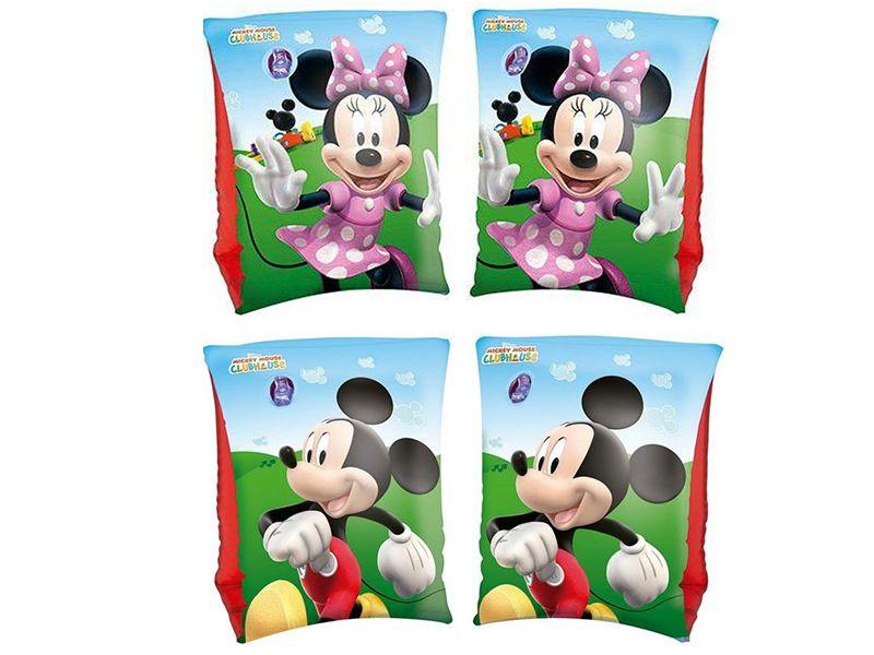 Combo 2 pares de Boia de Braço inflável para crianças: 1 par Mickey e 1 par Minnie