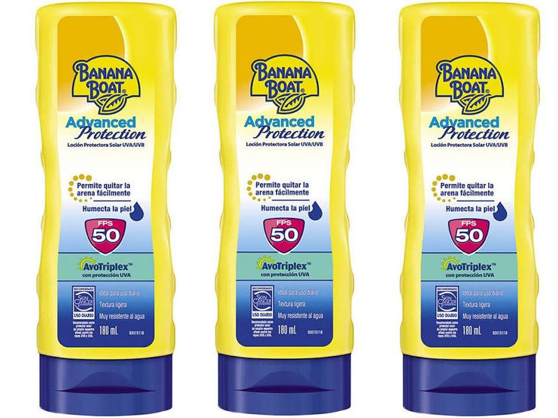 Combo 3 Protetor Solar Banana Boat Advanced Protection FPS 50 Loção 180ml