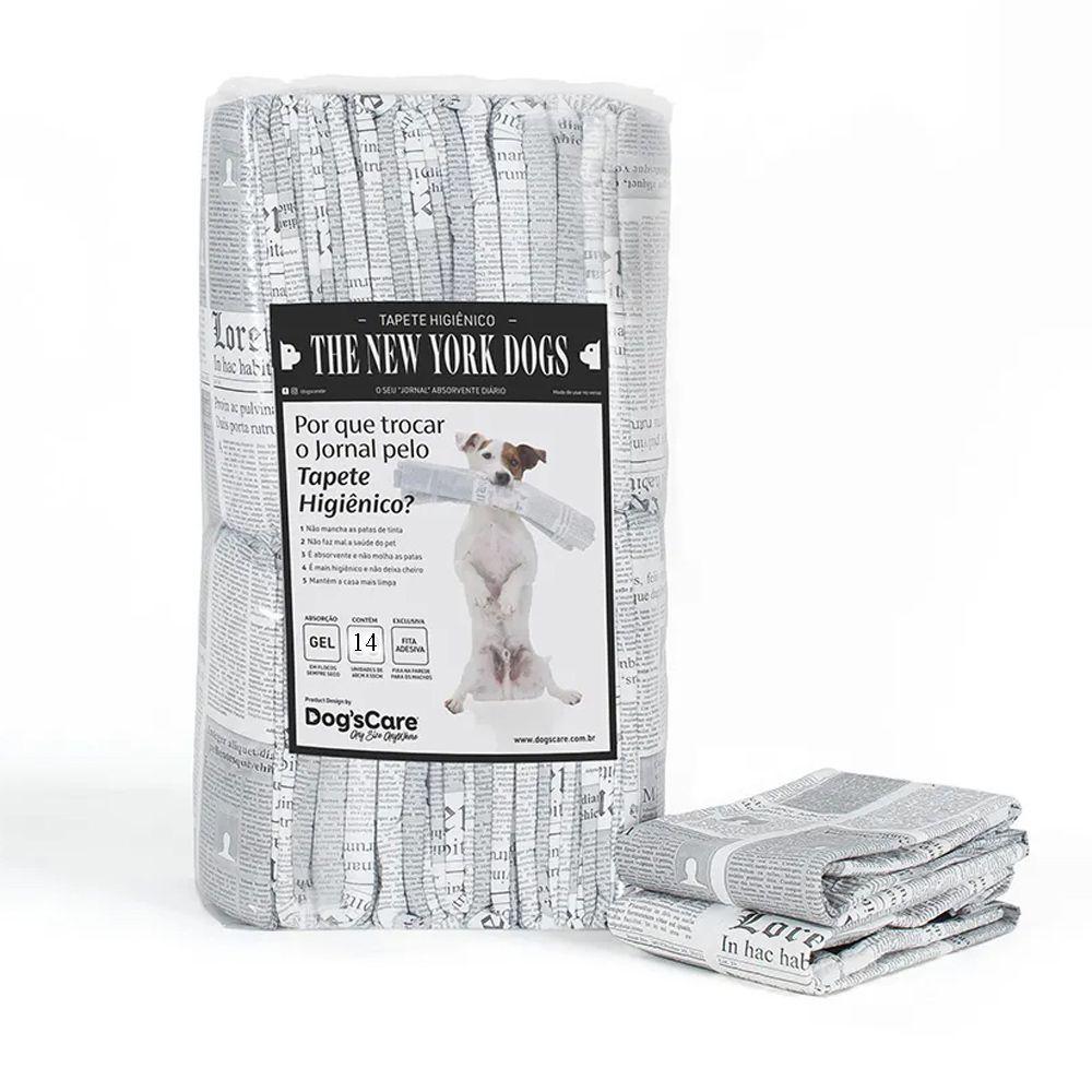 Combo 4 Pacotes Tapete Higiênico para cães The New York Dogs (descartável absorvente Tipo fralda) 14un 55X60cm