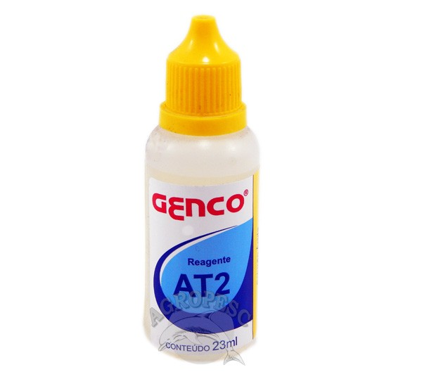 Combo 4 Reagentes At2 e 1 AT1 para análise de alcalinidade Total Genco
