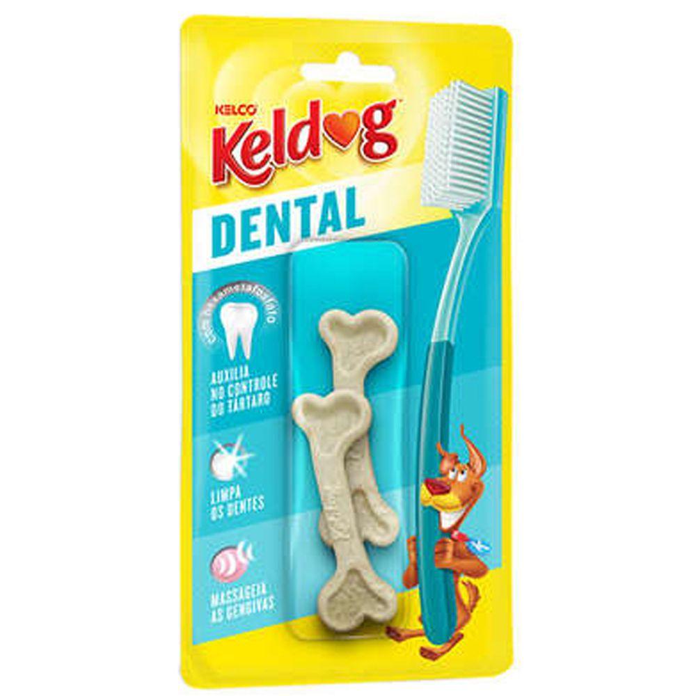 Combo 5 Cartelas Ossinho para cães Keldog Dental Frances - Osso cachorro controle tártaro hálito higiene bucal
