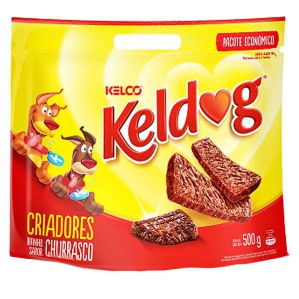 Combo 8 Pacotes de Bifinho para Cachorro Keldog Churrasco Petisco para cães 500g