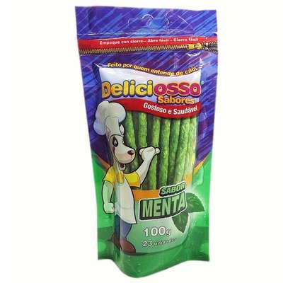Combo 4 Pacotes Palito Ossinho Para Cães Deliciosso Palito Fino Carne e 4 Menta