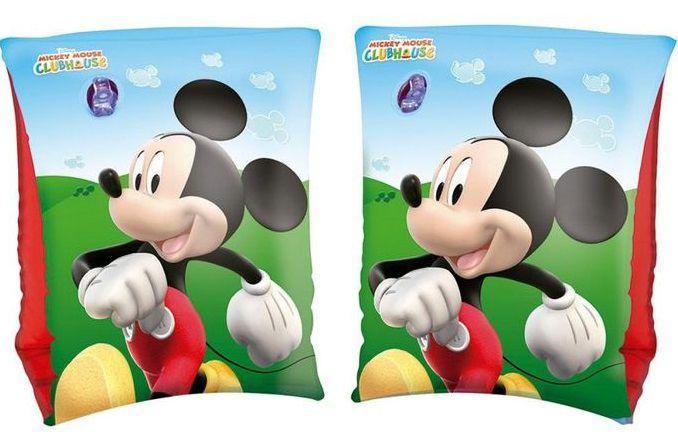 Combo Boia De Piscina Para Criança Bote Sapinho Com Cobertura Suporta Até 11kg + Boia de braço Mickey