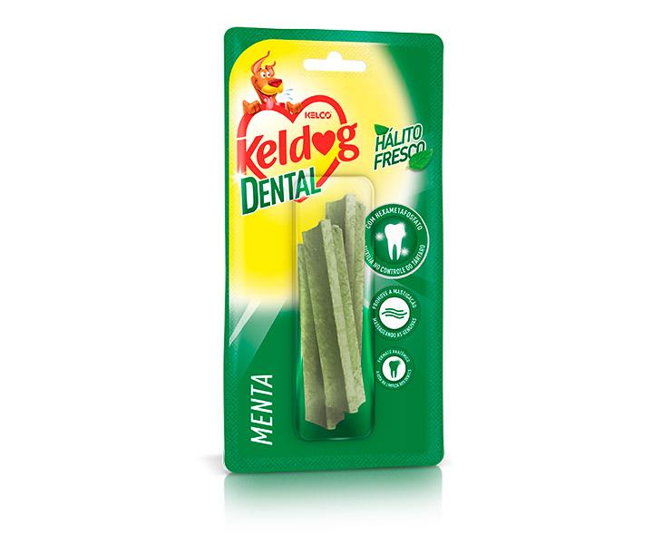 Combo com 5 Ossinho para cachorro Keldog Dental Y Menta - Osso cães controle de tártaro, hálito e higiene Bucal