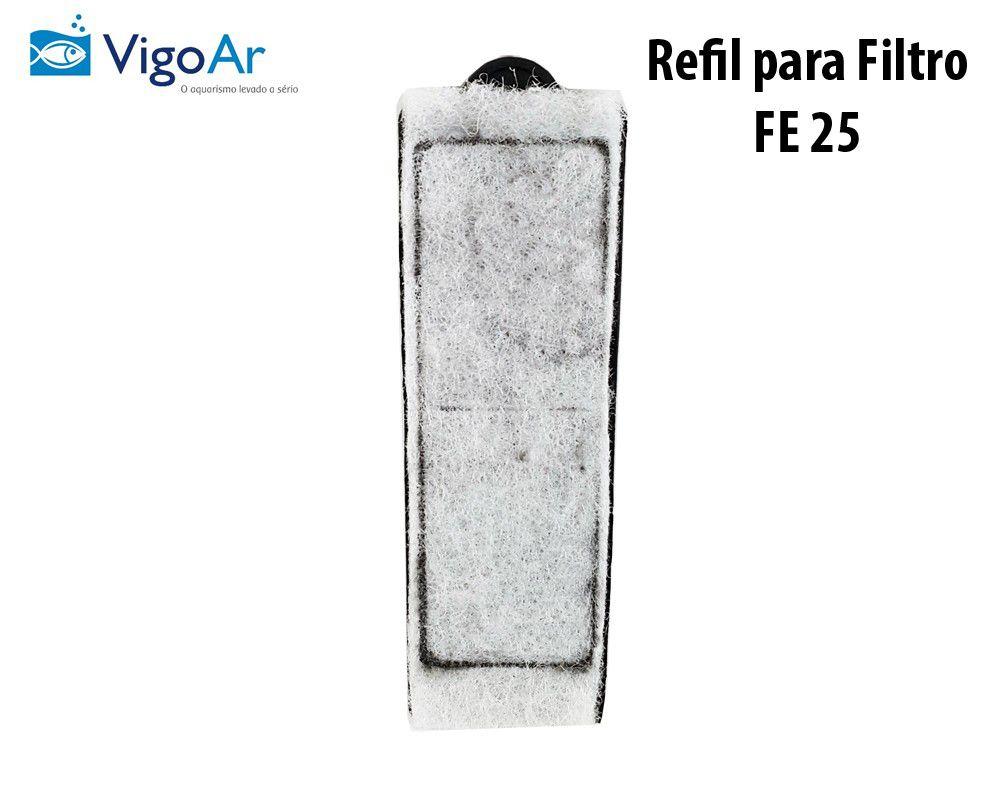Combo com 5 unidade de Refil para Filtro de aquário FE 25 Aquatech VigoAr