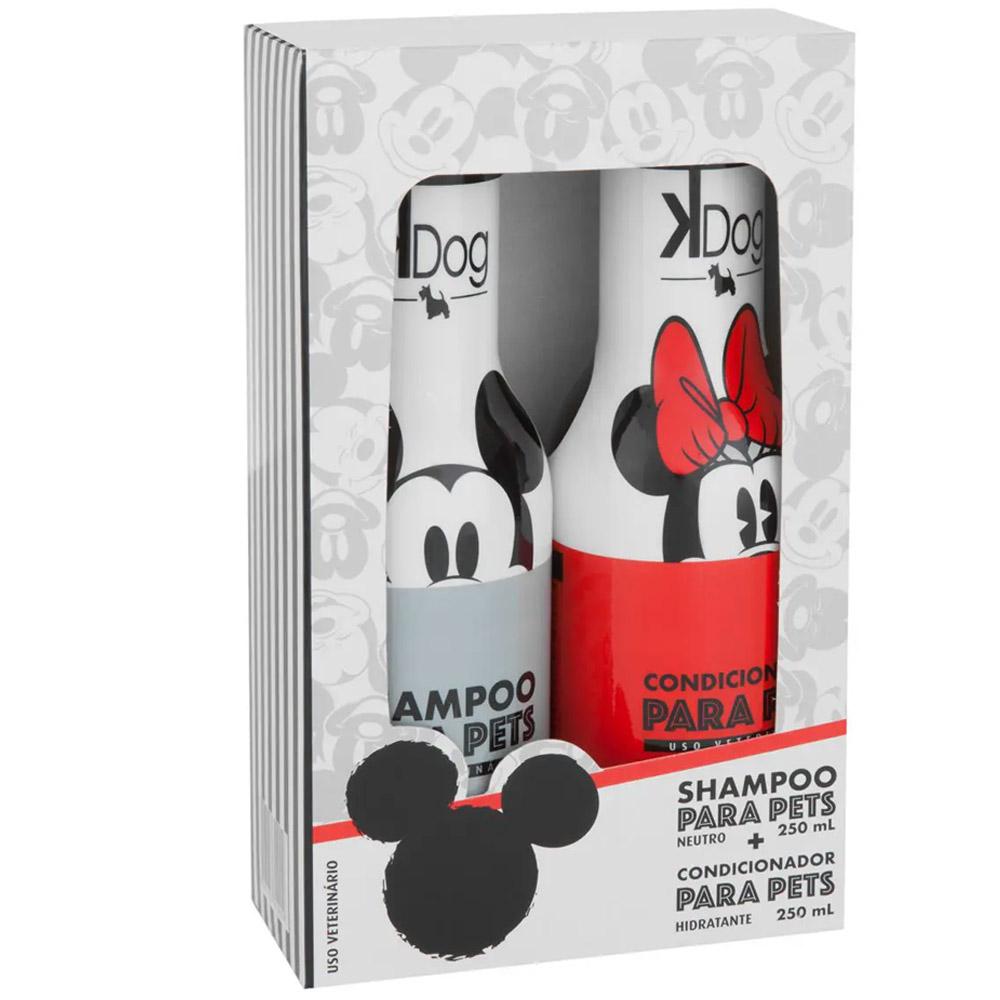 Combo Kit banho cachorro e Gatos: Shampoo e Condicionador Neutro KDog Disney
