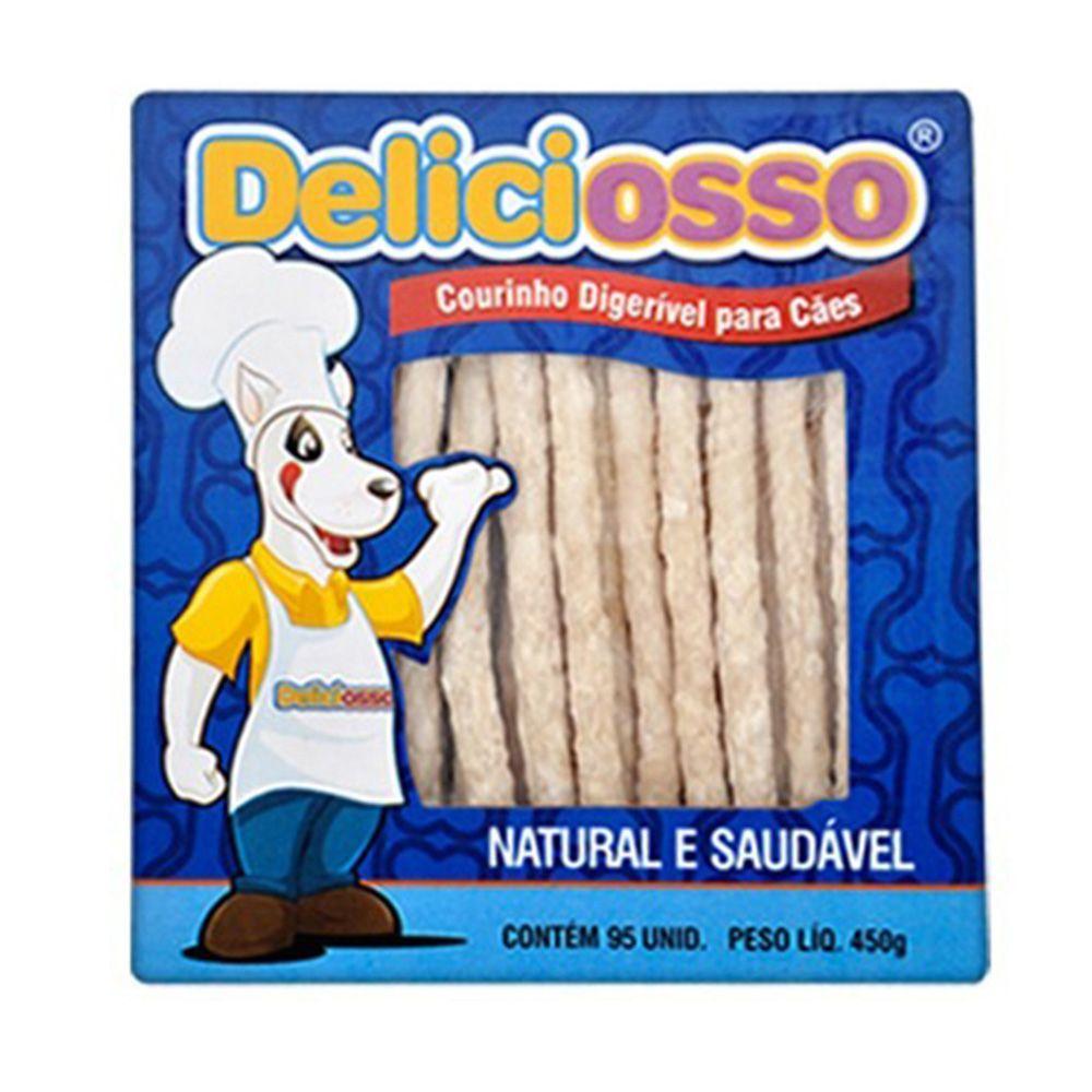 Combo Petisco Palitinho Ossinho Para Cães Deliciosso Palito Natural Fino - 5 Caixas 450g