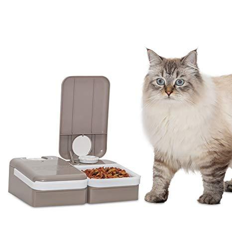 Comedouro Eletrônico Alimentador Automático Para Cães Gatos Com 2 Programas Amicus Petsafe