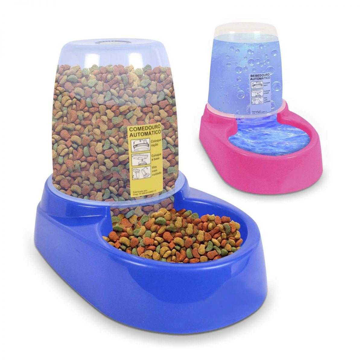 Comedouro ou Bebedouro Automático para Cachorro Gato Pet Flex Revolution Dupla Função com reservatório