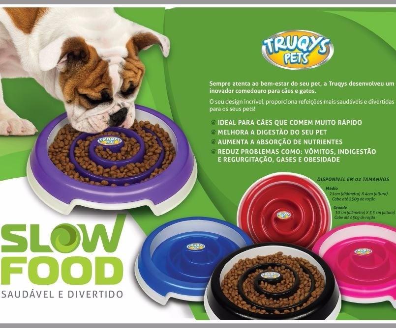 Comedouro para cães e Gatos com obstáculos - para animais que comem muito rápido Truqys Slow Food Grande