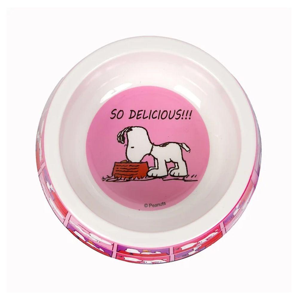 Comedouro Snoopy Pink para Cachorro ou Gato Snoopy Quadrinhos Rosa Pink G 22cm x 8,50cm 750ml