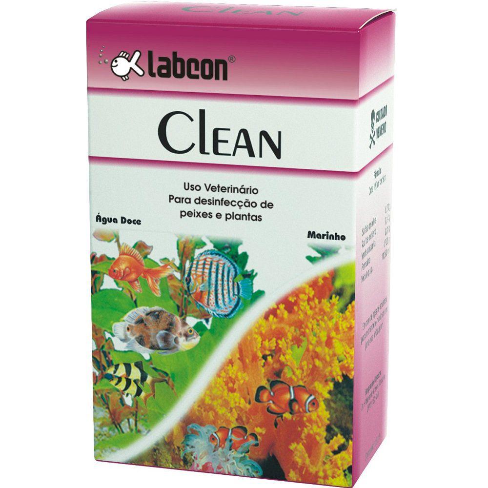 Condicionador de água de aquário Labcon Clean 15ml - Para desinfecção de peixes e plantas