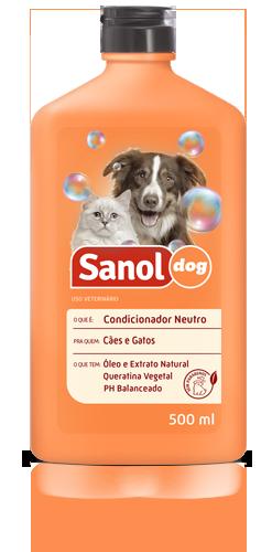 Condicionador para Cachorro e gato Sanol Neutro 500ml
