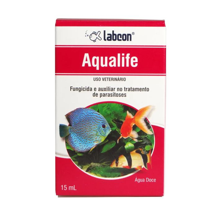 Fungicida Labcon Aqualife Alcon 15ml Combate fungos e auxilia no tratamento de parasitoses em peixes de água doce