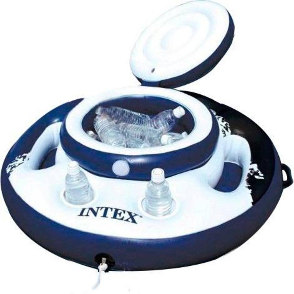 Boia Inflável barzinho porta latas de piscina Cooler Bar flutuante para Piscina Intex 56822 - 30 latas
