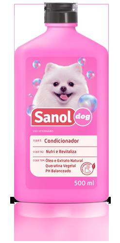 Kit completo banho cães: Shampoo para Cães Pelos Escuros + Condicionador Revitalizante + Perfume colônia Femea - Sanol Dog