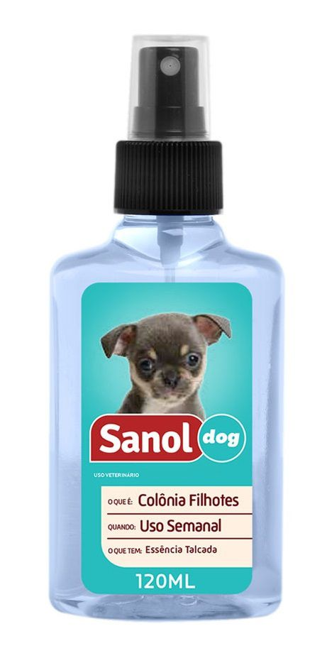 Cuidado e Higiene para Cachorro Filhote: Banho a Seco Sanol e Perfume Colônia Cães Baby