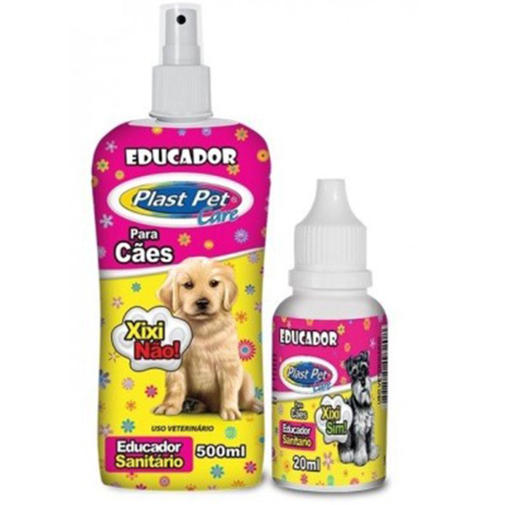 Educador Sanitário Para Cães Casadinho Xixi Não e Educador Xixi Sim Plast Pet