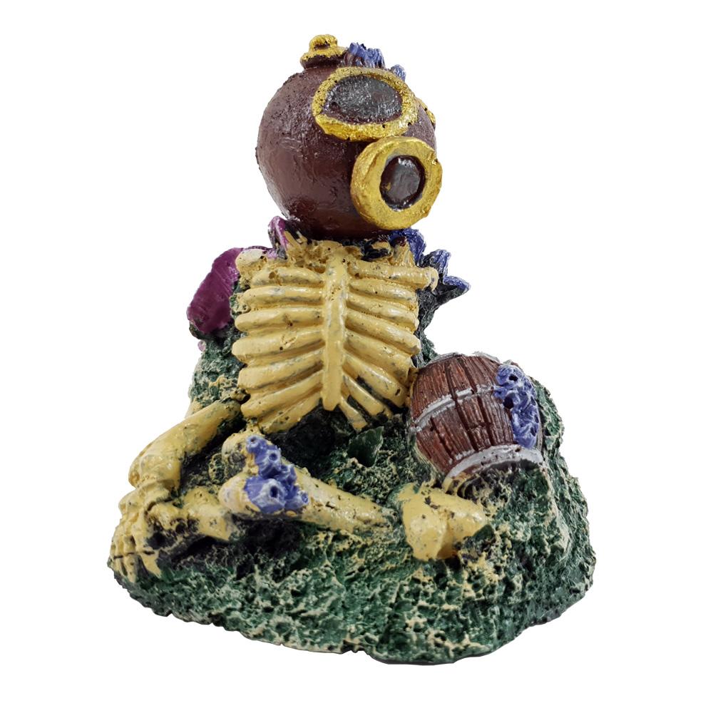 Enfeite para Aquário Esqueleto no fundo do mar Escafandro Vigoar
