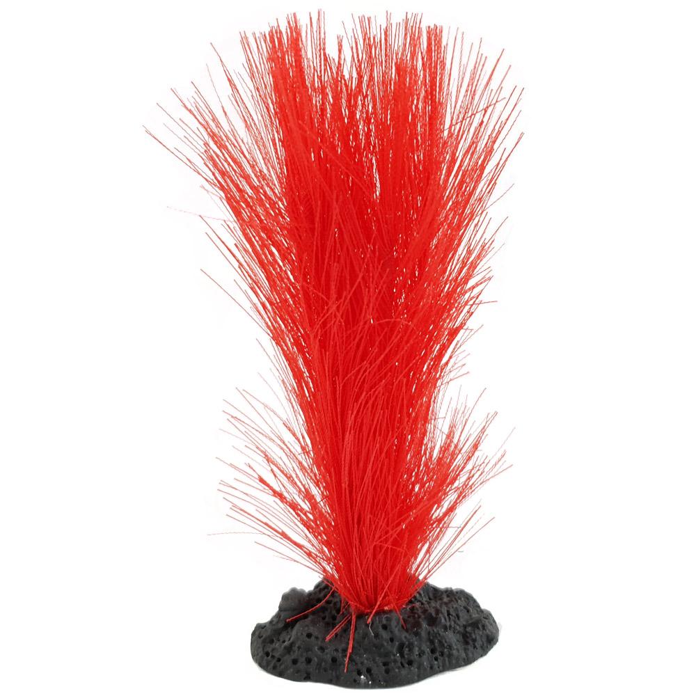Enfeite para aquário planta de seda Vermelha 13cm Vigo Ar