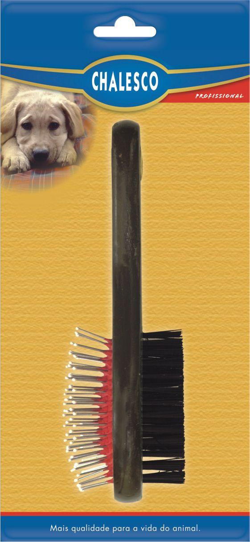 Escova dupla para cães Chalesco