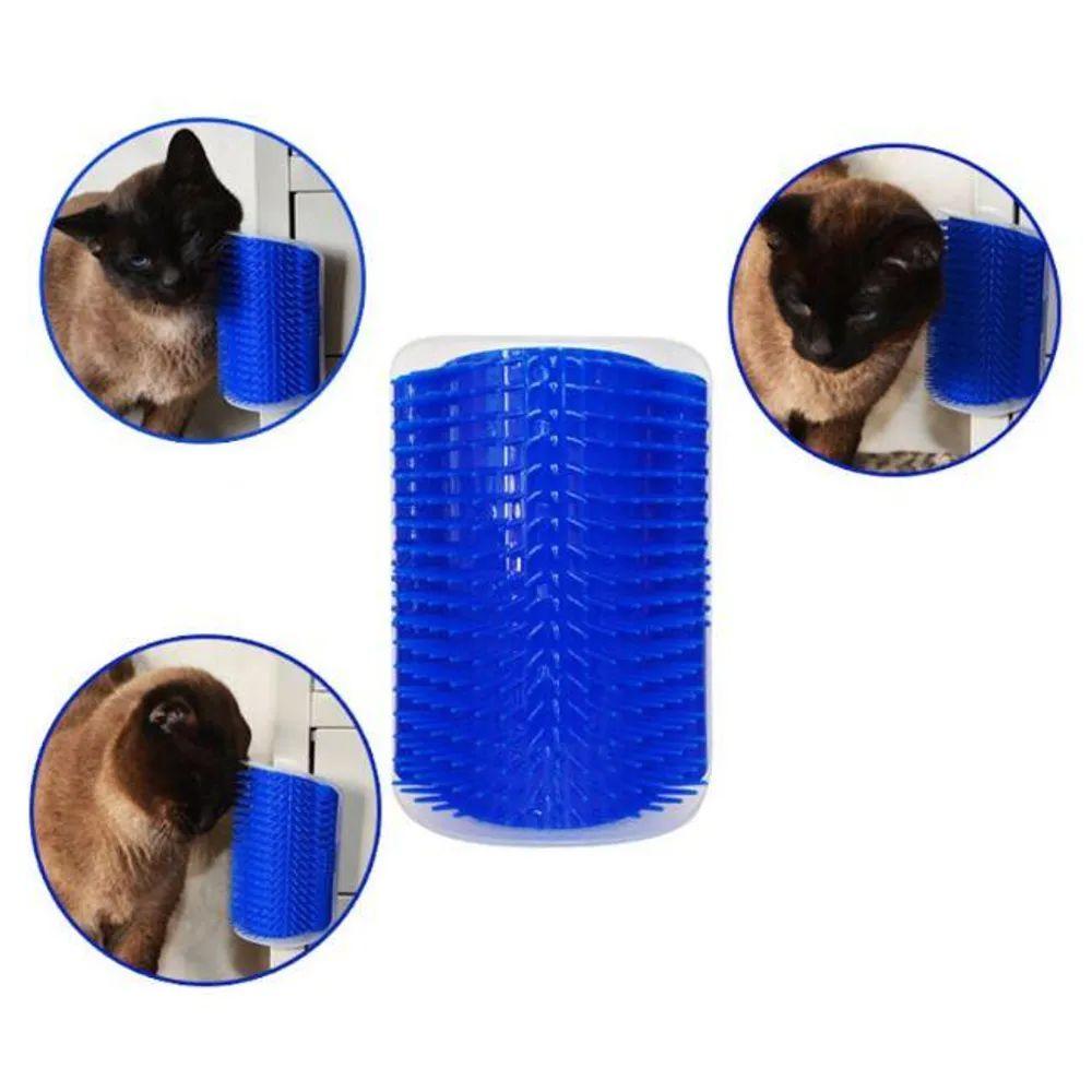 Escova Massageadora para gatos Coçadinha - Escova de automassagem em gatos com erva do gato CatNip Chalesco