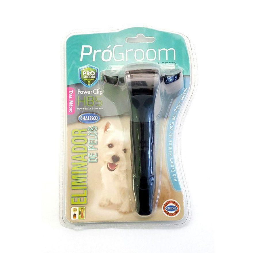 Escova rasqueadeira Eliminador de Pelos para cachorro e gatos Pro Groom Chalesco Tam G