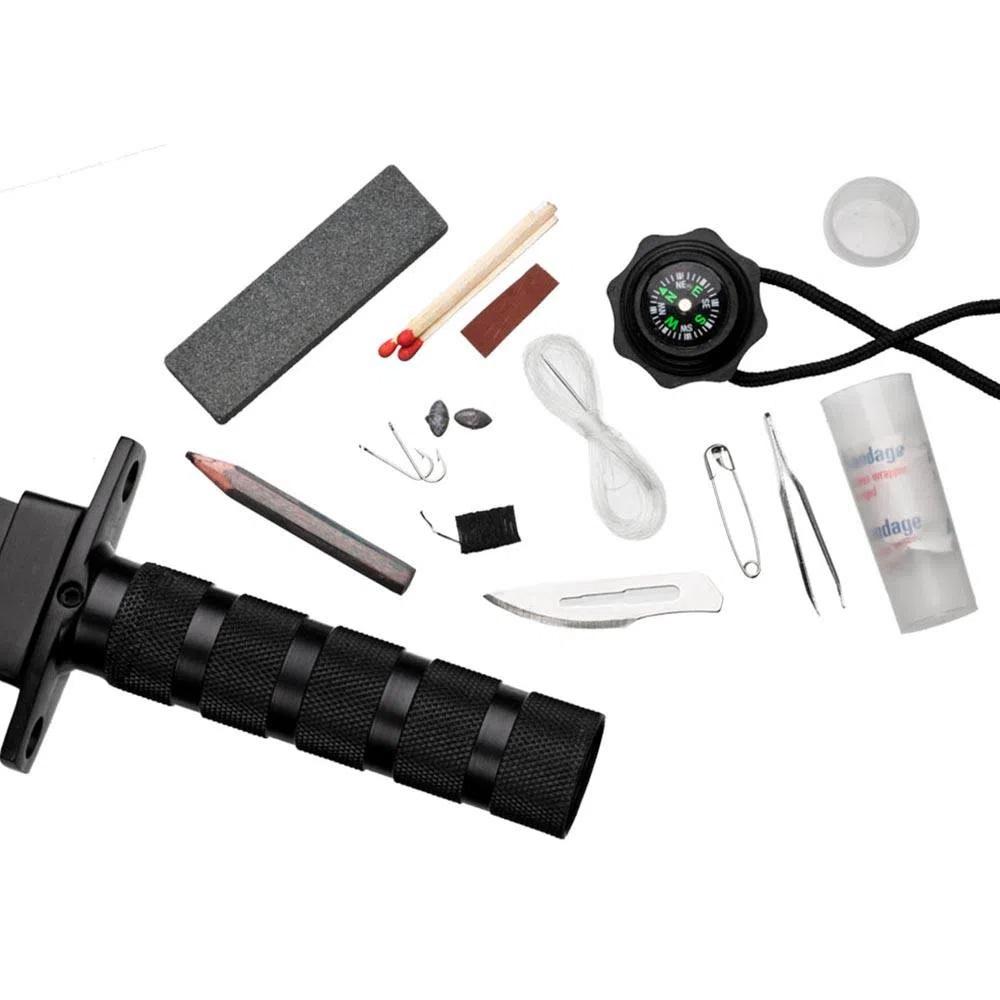 Faca Tática com kit de Sobrevivência Guepardo Delta Aço 420