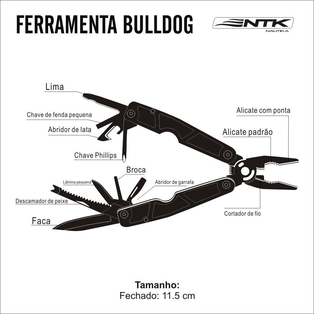 Ferramenta múltipla Nautika BullDog - 21 funções